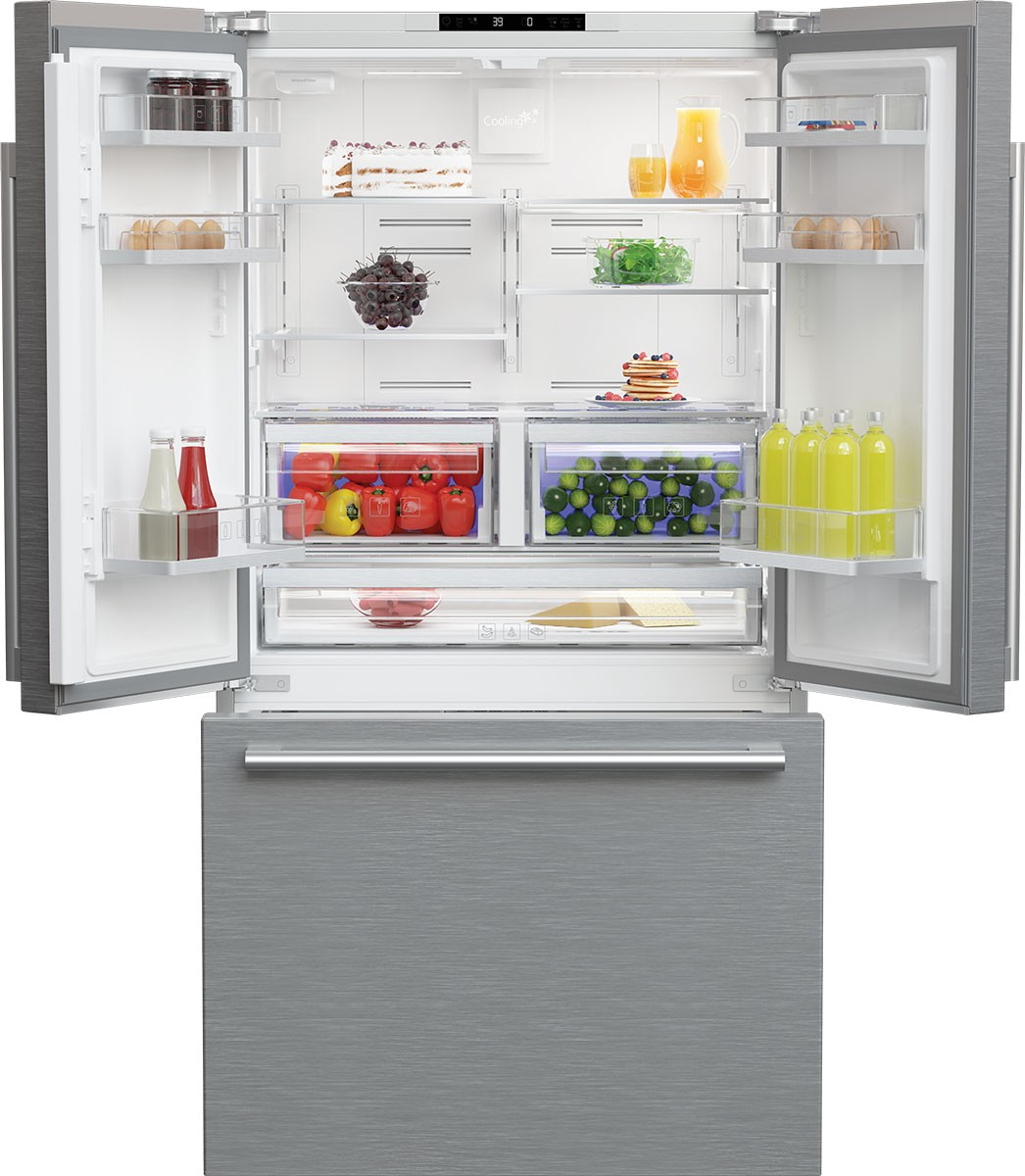 36 Inch Counter Depth French Door Refrigerator Blomberg