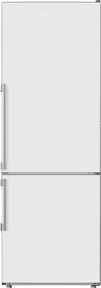 """24"""" Counter Depth 11.43 cu. ft. Bottom Freezer Refrigerator White"""